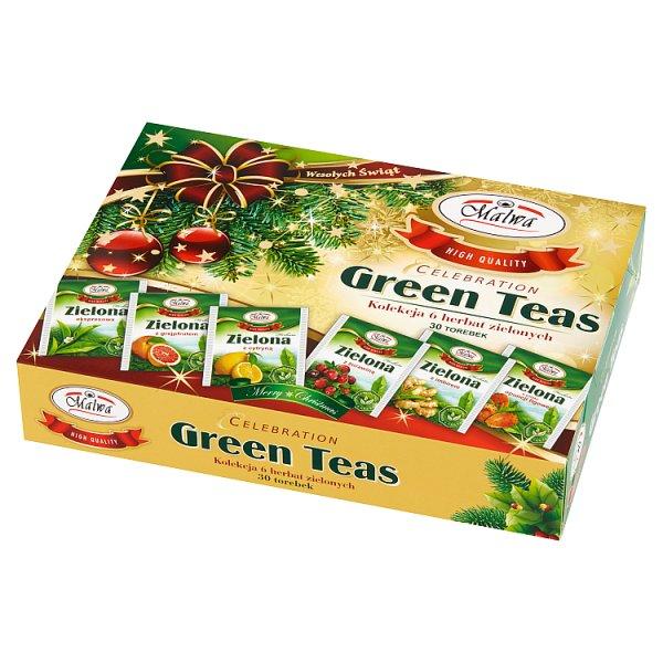 Malwa Celebration Green Teas Kolekcja 6 herbat zielonych 60 g (6 x 5 x 2 g)