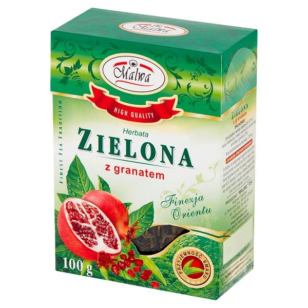 Herbata Malwa Zielona z owocem granatu