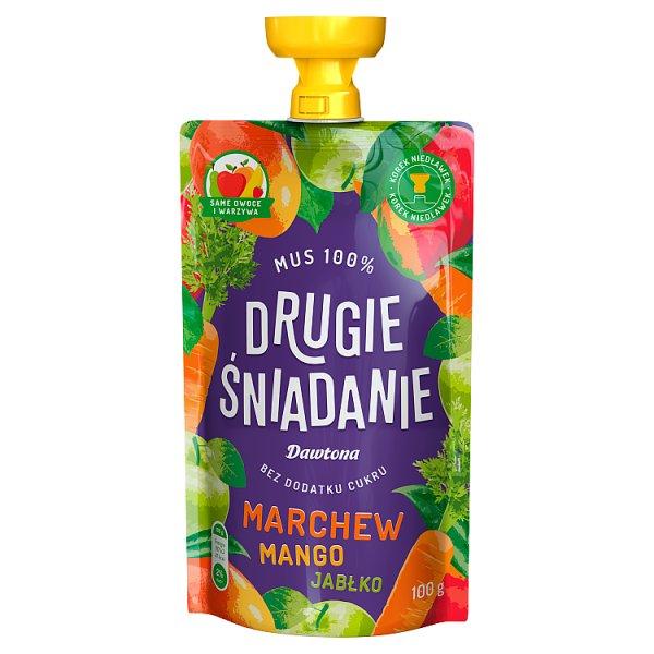 Drugie śniadanie Mus 100% marchew mango jabłko 100 g