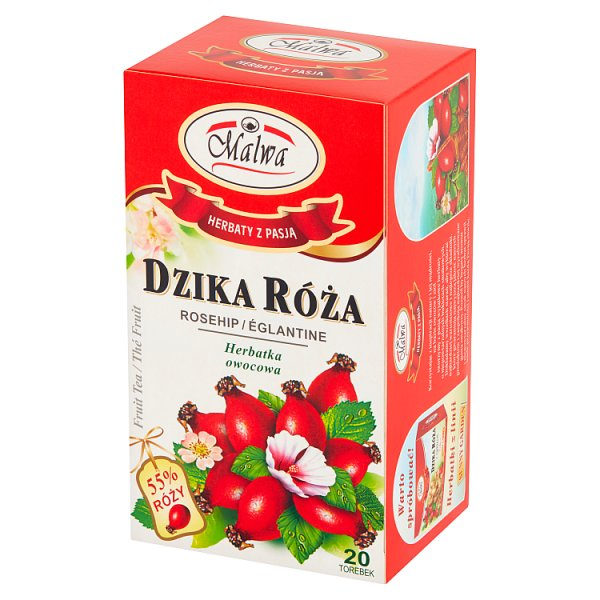 Malwa Herbatka owocowa dzika róża 40 g (20 x 2 g)