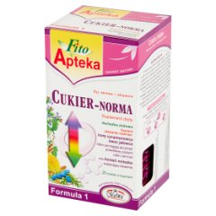 Fito Apteka Suplement diety herbatka ziołowa cukier-norma 40 g (20 x 2 g)