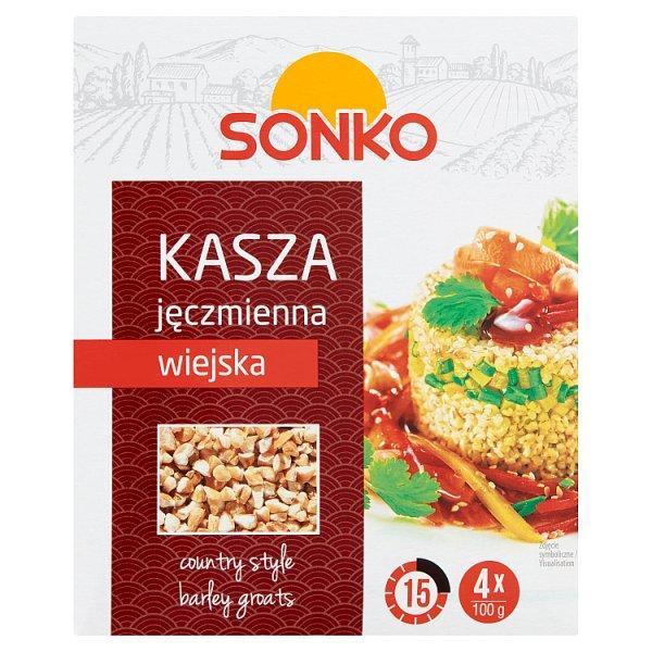 Sonko Kasza jęczmienna wiejska 400 g (4 x 100 g)