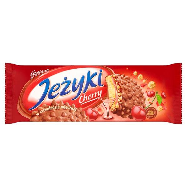Jeżyki Cherry Herbatniki w czekoladzie mlecznej 140 g