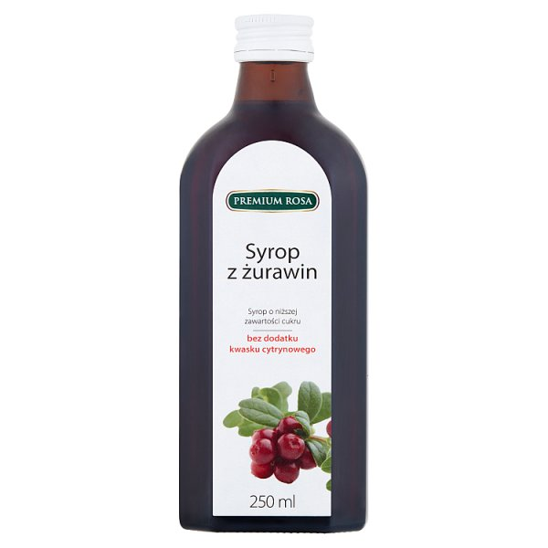 Premium Rosa Syrop z żurawin 250 ml