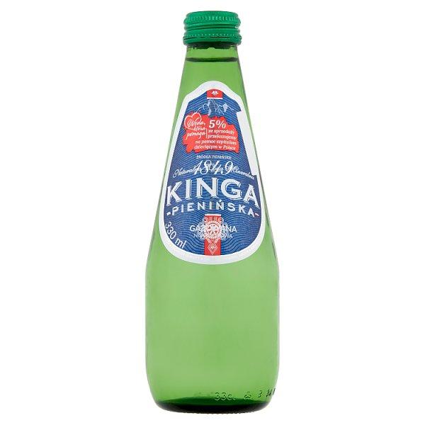 Kinga Pienińska Naturalna woda mineralna gazowana niskosodowa 330 ml
