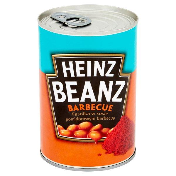 Heinz Beanz Fasolka w sosie pomidorowym barbecue 390 g