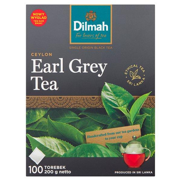 Dilmah Ceylon Earl Grey Tea Czarna herbata aromatyzowana 200 g (100 x 2 g)