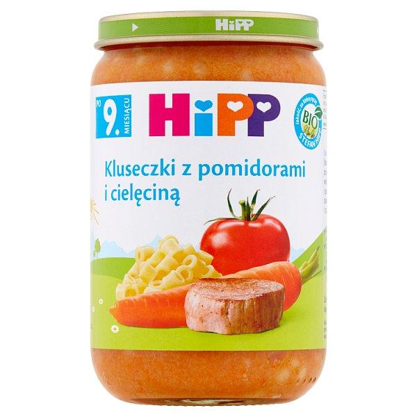 HiPP BIO Kluseczki z pomidorami i cielęciną po 9. miesiącu 220 g