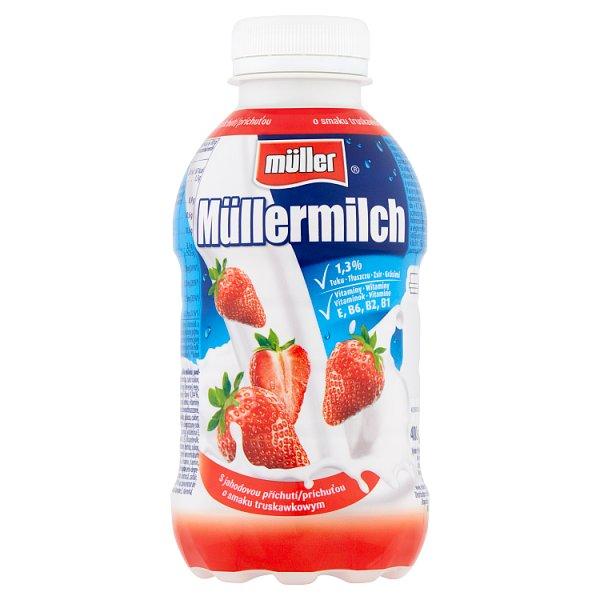 Müller Müllermilch Napój mleczny o smaku truskawkowym 400 g