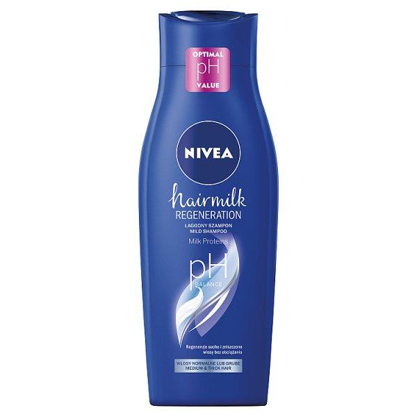 NIVEA Hairmilk Łagodny szampon do włosów o strukturze normalnej 400 ml