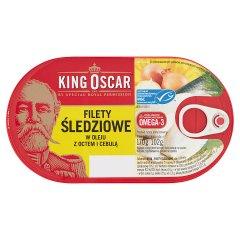 King Oscar Filety śledziowe w oleju z octem i cebulą 170 g