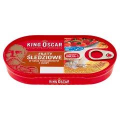 King Oscar Filety śledziowe w sosie pomidorowym z curry 170 g