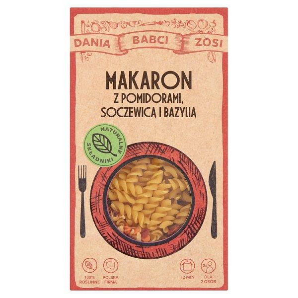 Dania Babci Zosi Makaron z pomidorami soczewicą i bazylią 180 g