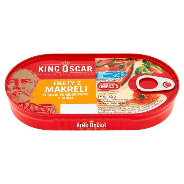 King Oscar Filety z makreli w sosie pomidorowym z chilli 170 g