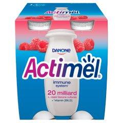 Danone Actimel Mleko fermentowane o smaku malinowym 400 g (4 x 100 g)