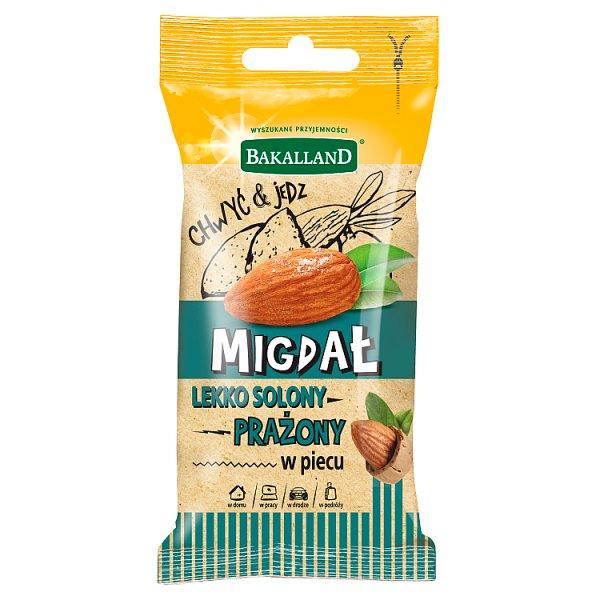 Bakalland Migdał prażony w piecu lekko solony 35 g