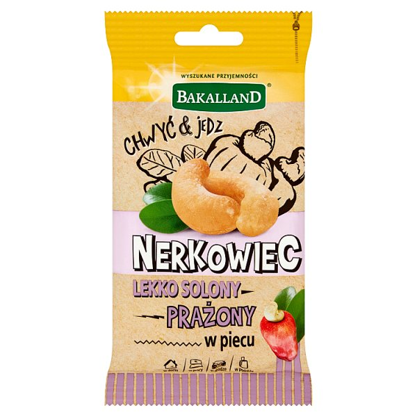 Bakalland Nerkowiec prażony w piecu lekko solony 30 g