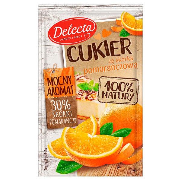 Delecta Z serca natury Cukier ze skórką pomarańczową 15 g