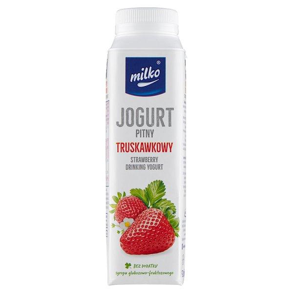 Milko Jogurt pitny truskawkowy 330 ml
