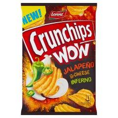 Crunchips Wow Grubo krojone chipsy ziemniaczane o smaku pikantno-śmietankowym 110 g