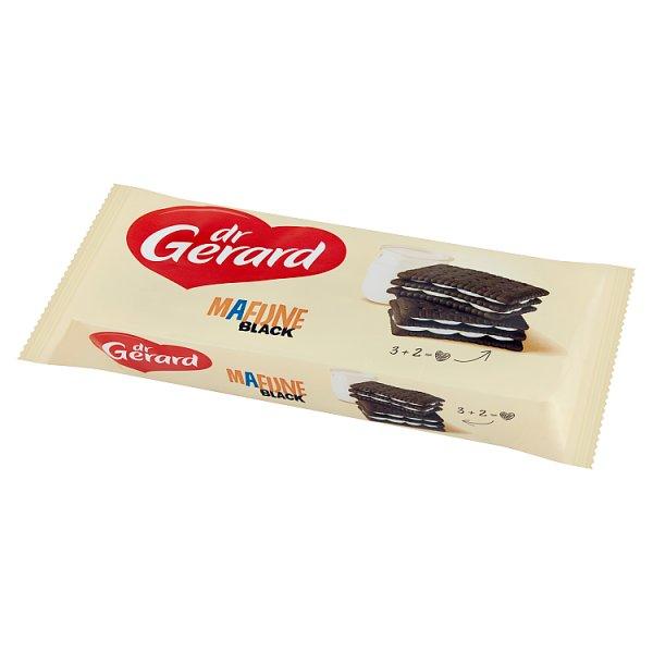dr Gerard Mafijne Black Herbatniki kakaowe z kremem o smaku śmietankowym 216 g