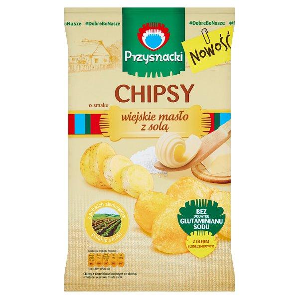 Przysnacki Chipsy o smaku wiejskie masło z solą 135 g