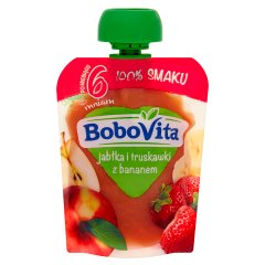 Mus Bobovita jabłko-truskawki-banan