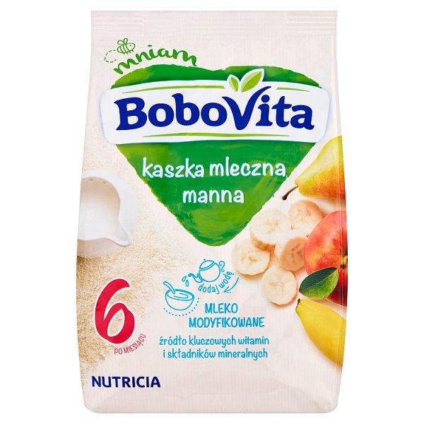 BoboVita Kaszka mleczna manna 3 owoce po 6 miesiącu 230 g