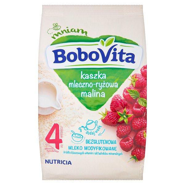 BoboVita Kaszka mleczno-ryżowa malina po 4 miesiącu 230 g