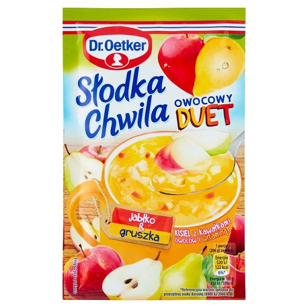 Kisiel Słodka Chwila z owocami jabłkowo - gruszkowy