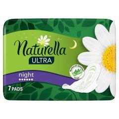 Naturella Ultra Night Podpaski zeskrzydełkami x7