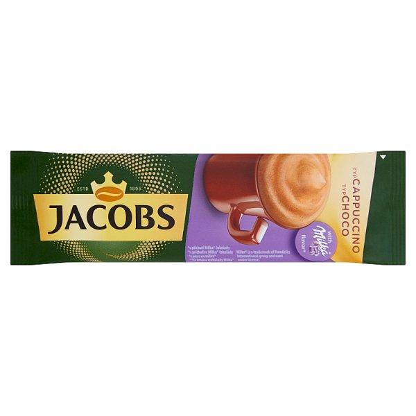 Jacobs Cappuccino Choco Rozpuszczalny napój kawowy o smaku czekolady Milka 18 g