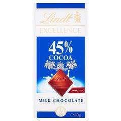 Lindt Excellence 45% Cocoa Czekolada mleczna 80 g