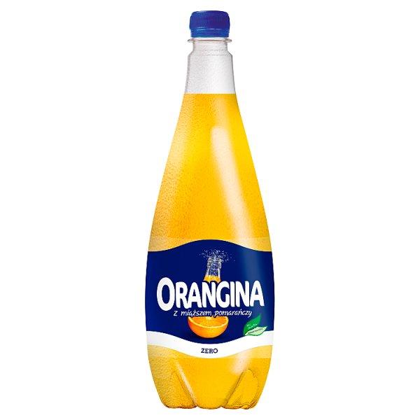 Orangina Zero Napój gazowany o smaku pomarańczowym 1,4 l
