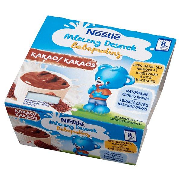 Nestlé Mleczny Deserek o smaku kakaowym po 8 miesiącu 400 g (4 x 100 g)