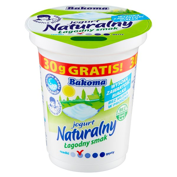 Bakoma jogurt naturalny 290g