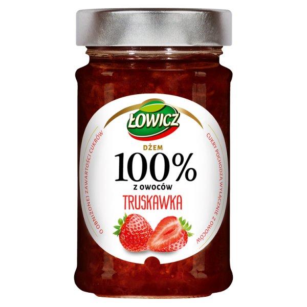 Łowicz Dżem 100% z owoców truskawka 220 g