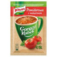 Gorący kubek Knorr zupa pomidorowa z makaronem