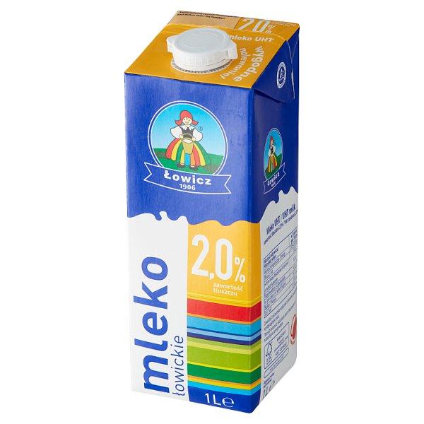 Łowicz Mleko łowickie UHT 2,0% 1 l