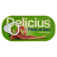 Delicius Filety anchois w oliwie z oliwek 46 g