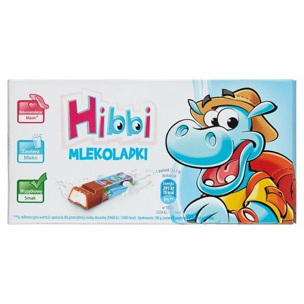 Hibbi Mlekoladki Batoniki mleczne z nadzieniem mlecznym 100 g