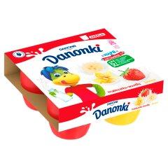 Twarożek Danonki mega truskawka,banan,wanilia 4*90g