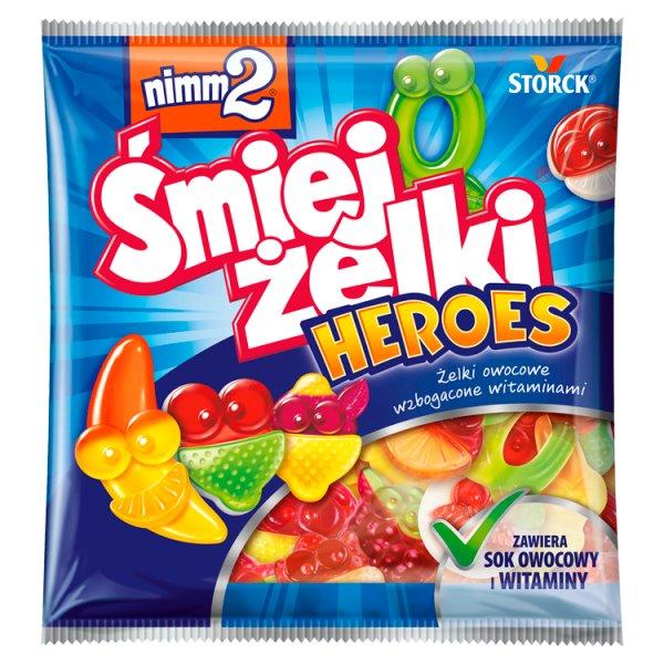 nimm2 Śmiejżelki Heroes Żelki owocowe wzbogacone witaminami 90 g