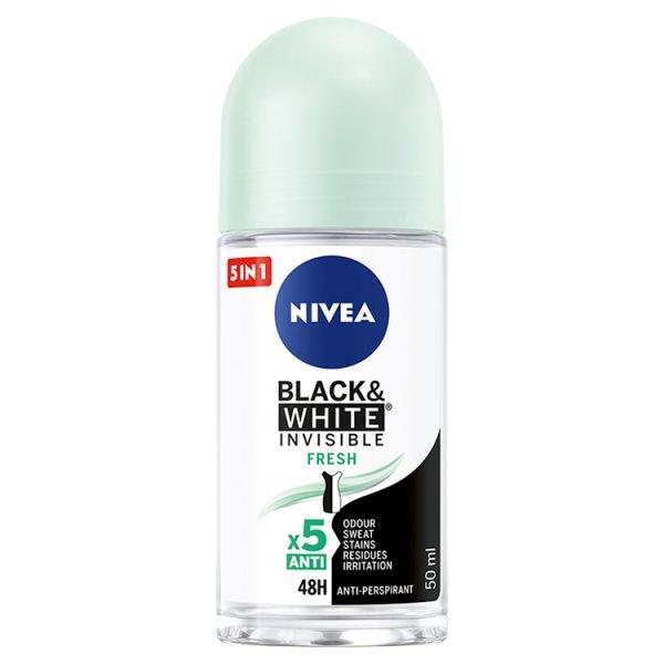 NIVEA Black&White Invisible Fresh Antyperspirant w kulce 50 ml