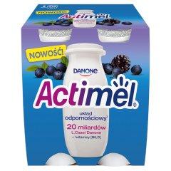Danone Actimel Mleko fermentowane o smaku jeżynowo-jagodowym 400 g (4 x 100 g)