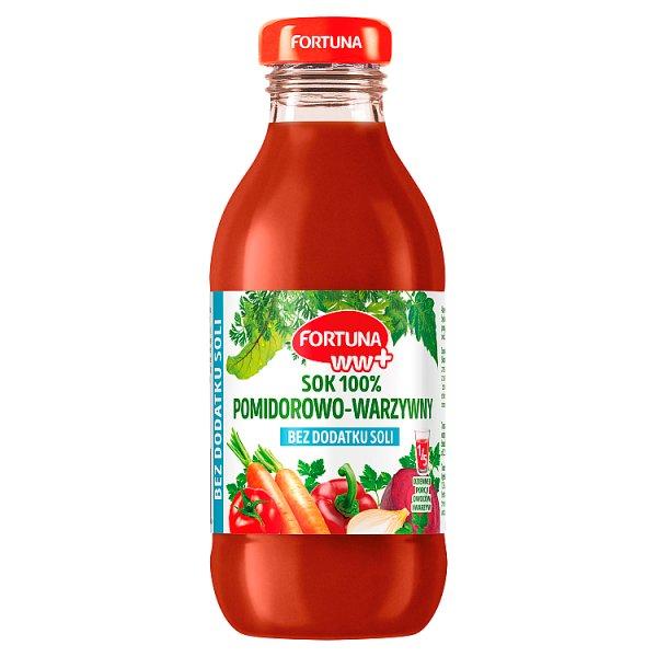 Fortuna WW+ Sok 100% pomidorowo-warzywny bez dodatku soli 300 ml