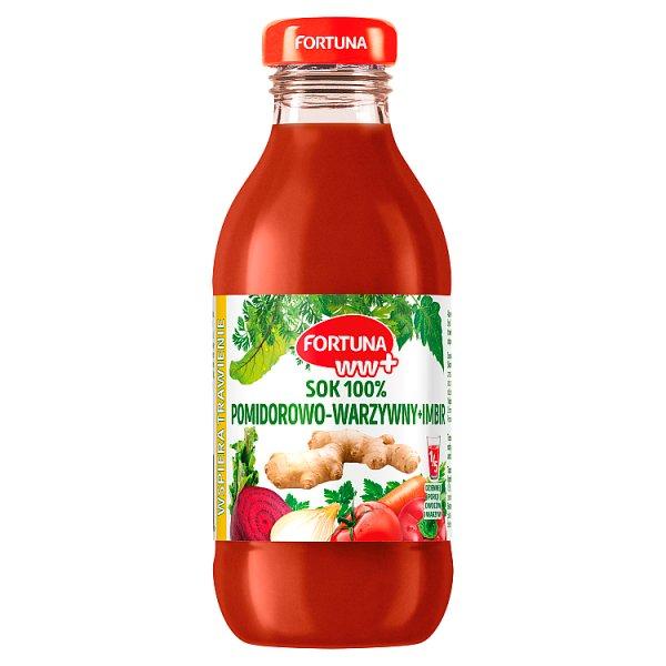 Fortuna WW+ Sok 100% pomidorowo-warzywny + imbir 300 ml