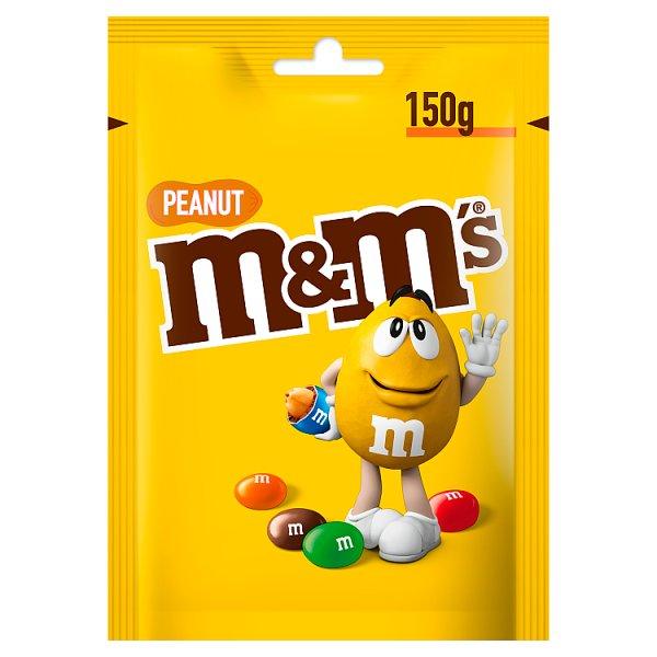 M&M's Peanut Orzeszki ziemne oblane czekoladą w kolorowych skorupkach 150 g