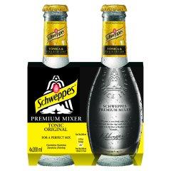 Schweppes Premium Mixer Tonic Original Napój gazowany 4 x 200 ml
