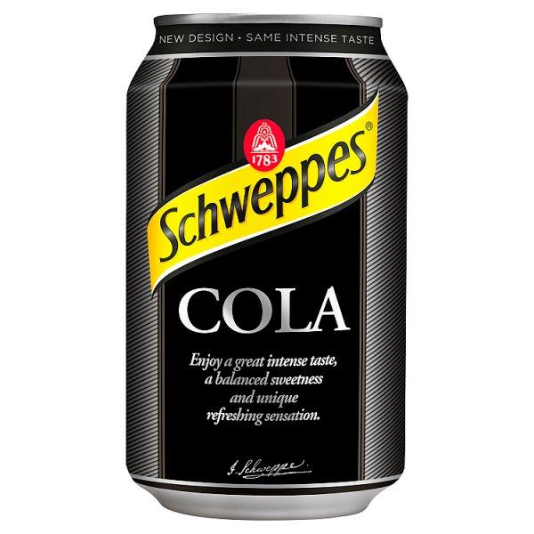 Schweppes Cola Napój gazowany o smaku coli 330 ml